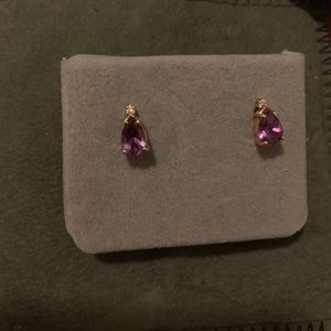 Jewelry - Earrings with amethyst and diamond